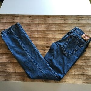 Levi's 550 relaxed bootcut blue jeans 6 L